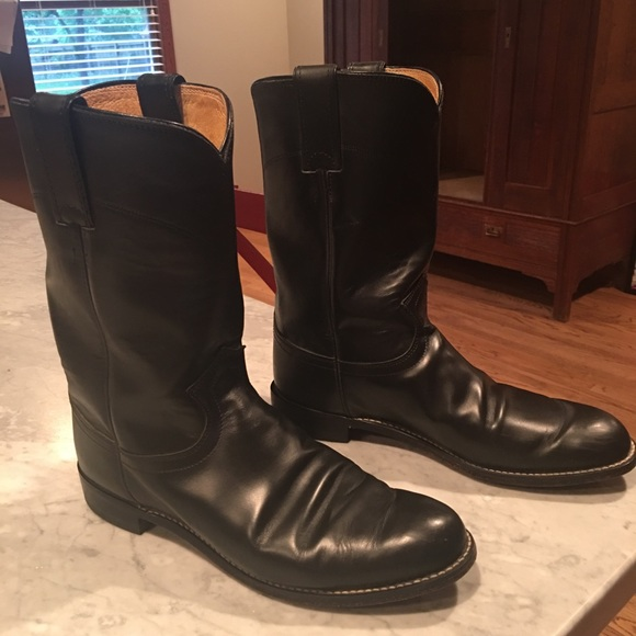 ebbb204f6d3 Ladies Justin Roper black leather boots size 9